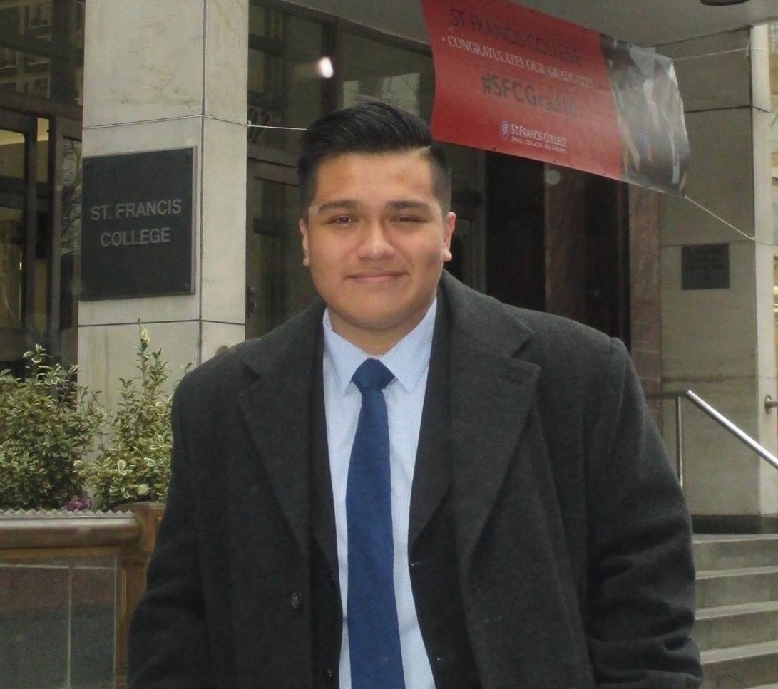 Christopher Guevara, BS, MS.  Christopher earned his Masters of Science in Neuroscience and Education from Columbia University Teachers College and is attending Icahn School of Medicine at Mount Sinai's PhD program in Neuroscience.