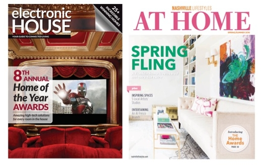 - Electronic House Magazine Home of the Year 2012 Silver Award for Best Home Theater.Nashville Lifestyle Magazine Article with Get Smart AV on the DIY Network