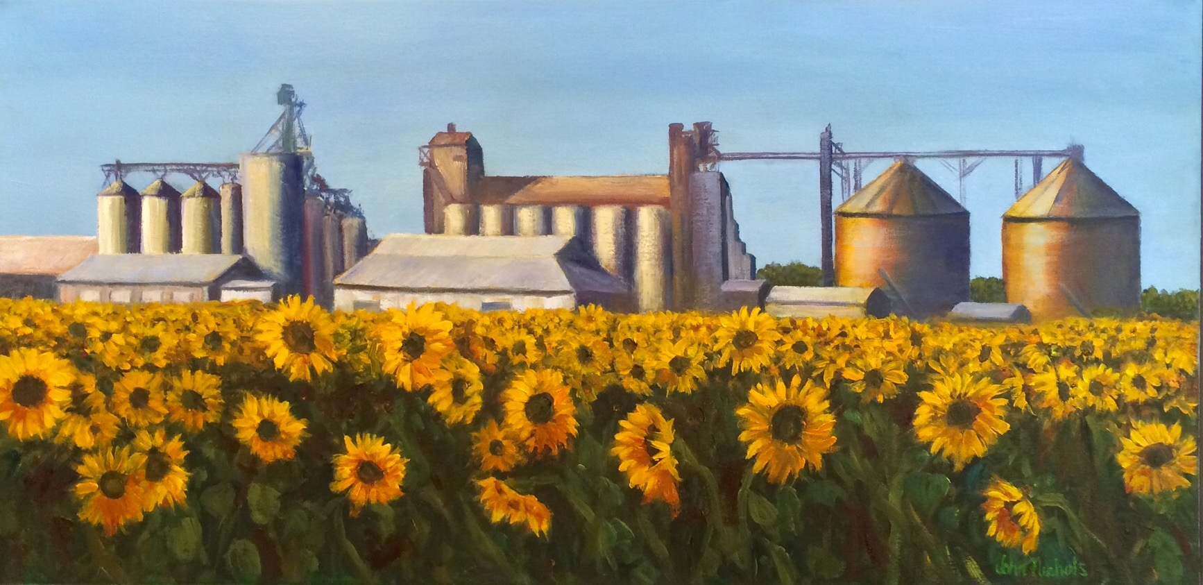 """Silos and Sunflowers"""