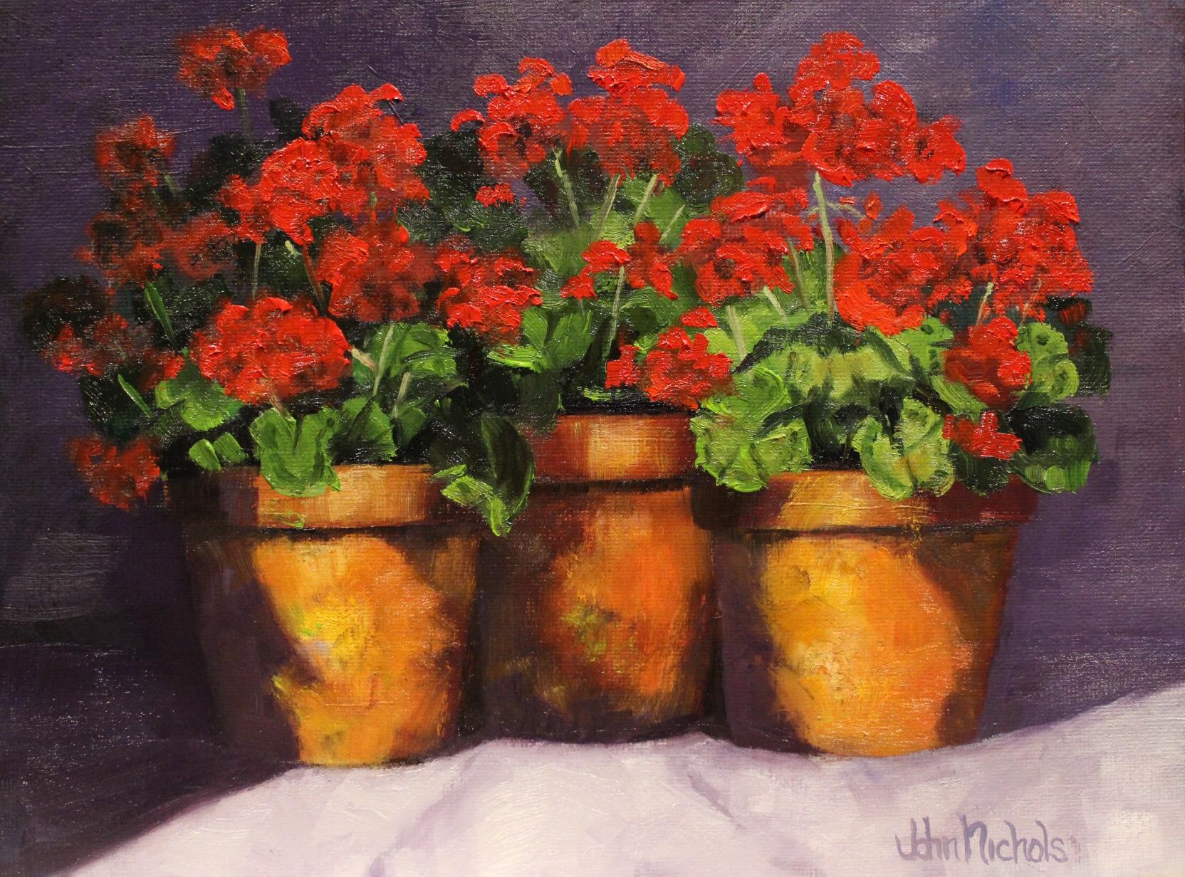 """Three Geraniums"""