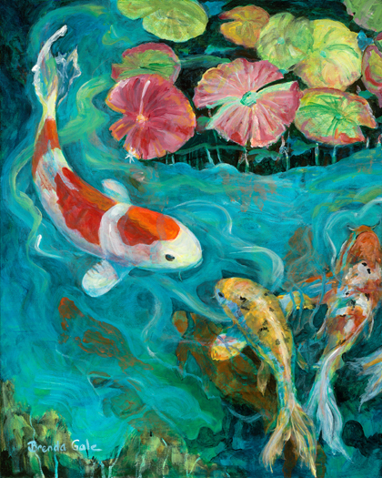 Lily Koi (left side of diptych)