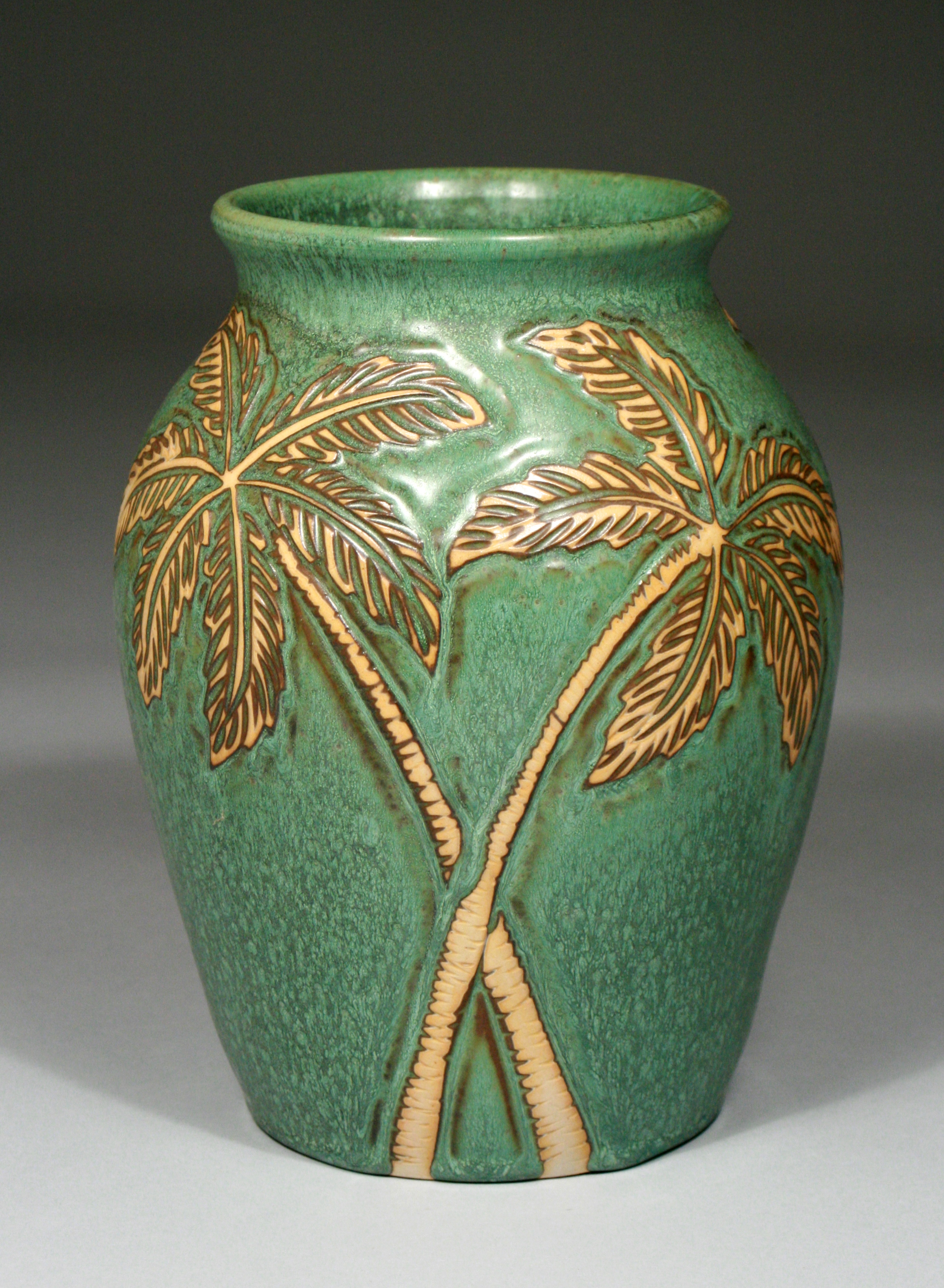 Palm Tree Vase / SOLD