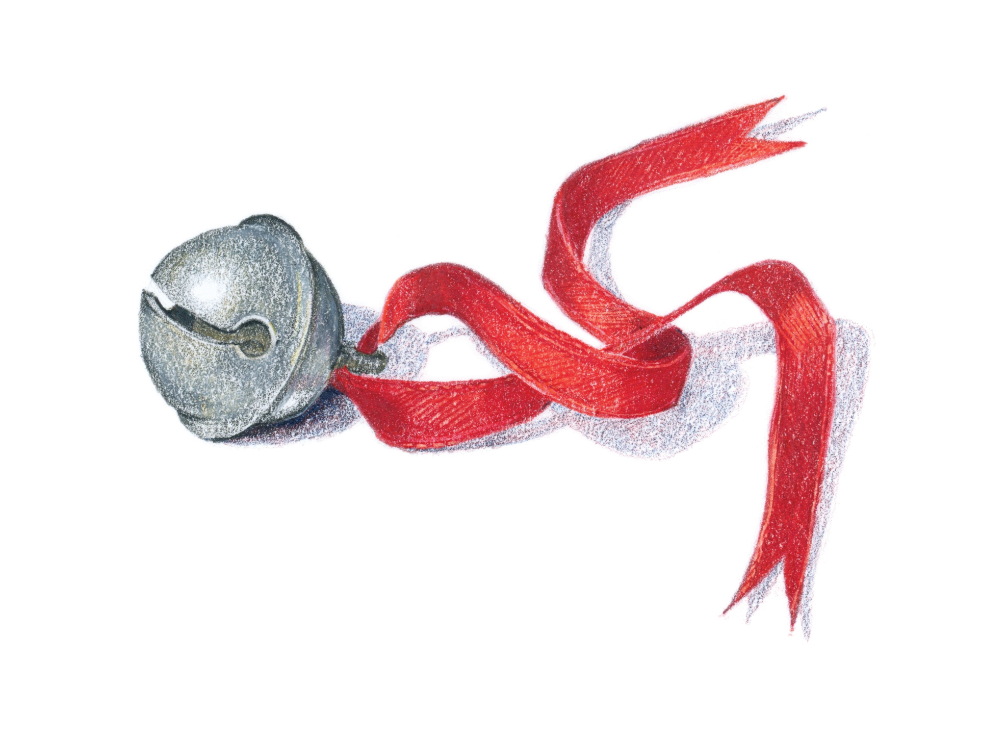 Sleigh bell - colored pencil