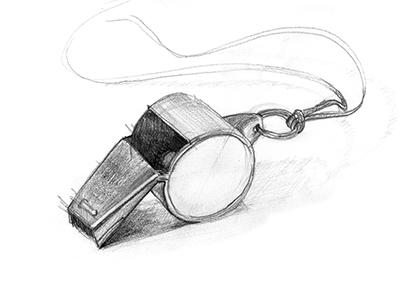 Whistle - graphite