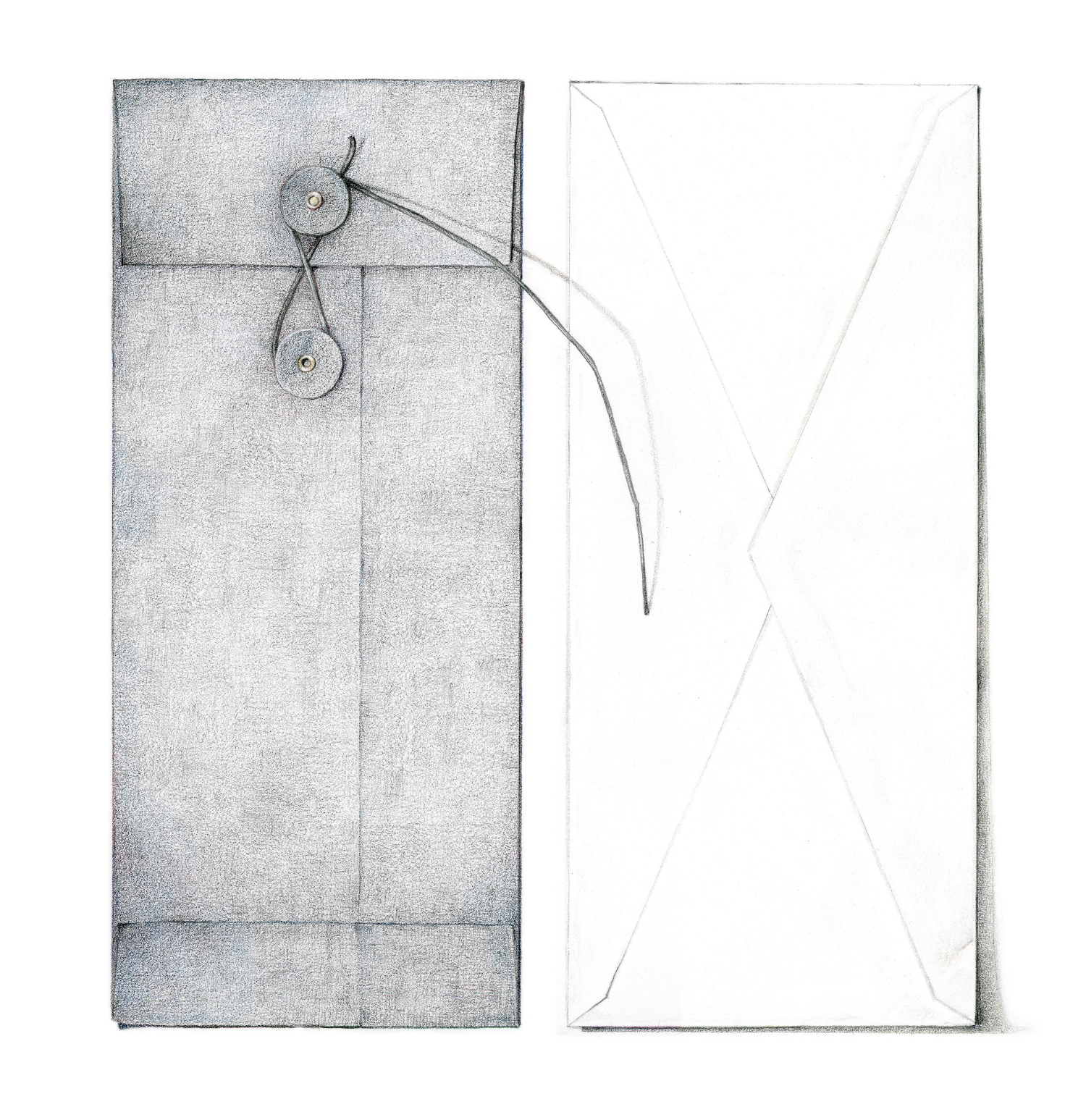 Two envelopes - colored pencil