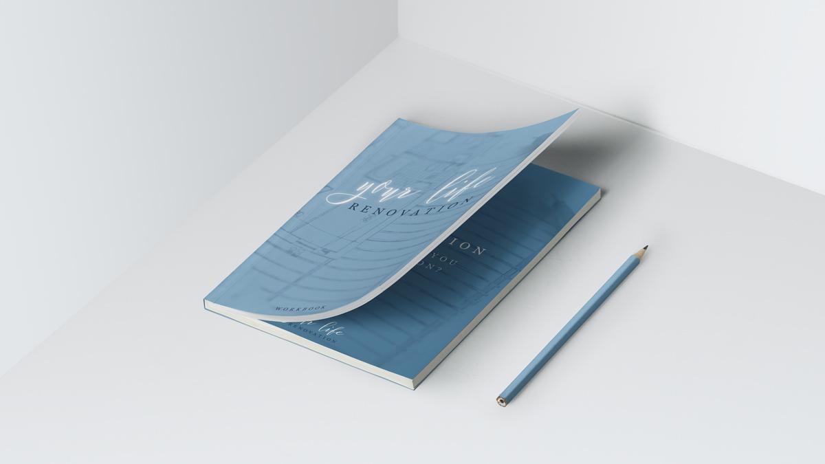 Custom visual brand design and logo design. Booklet print design.