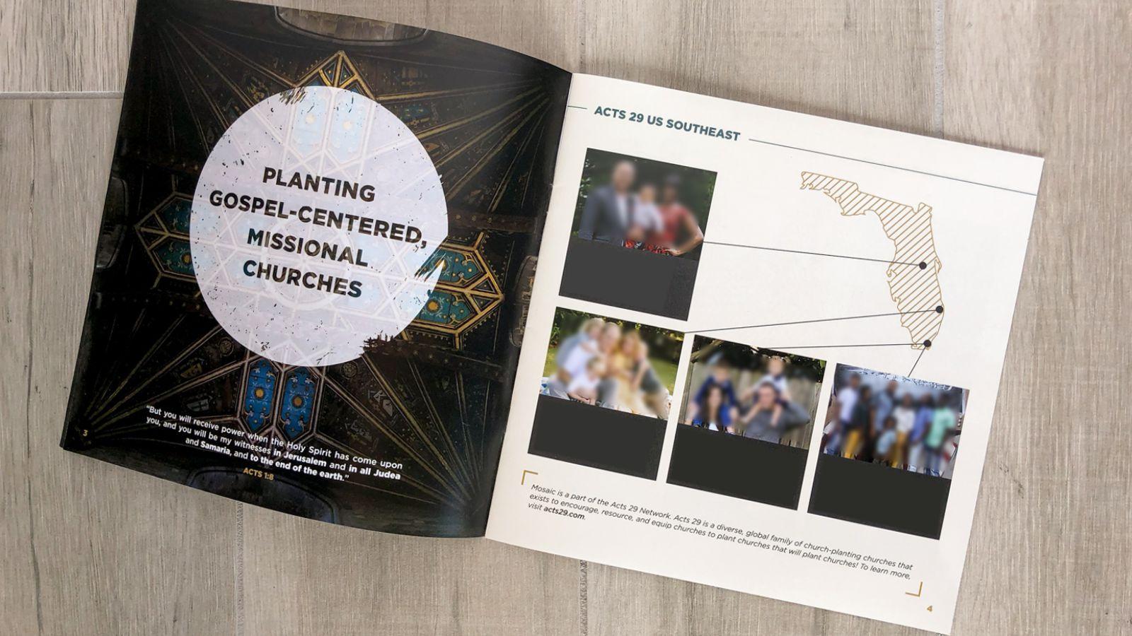 Custom church booklet brochure print design