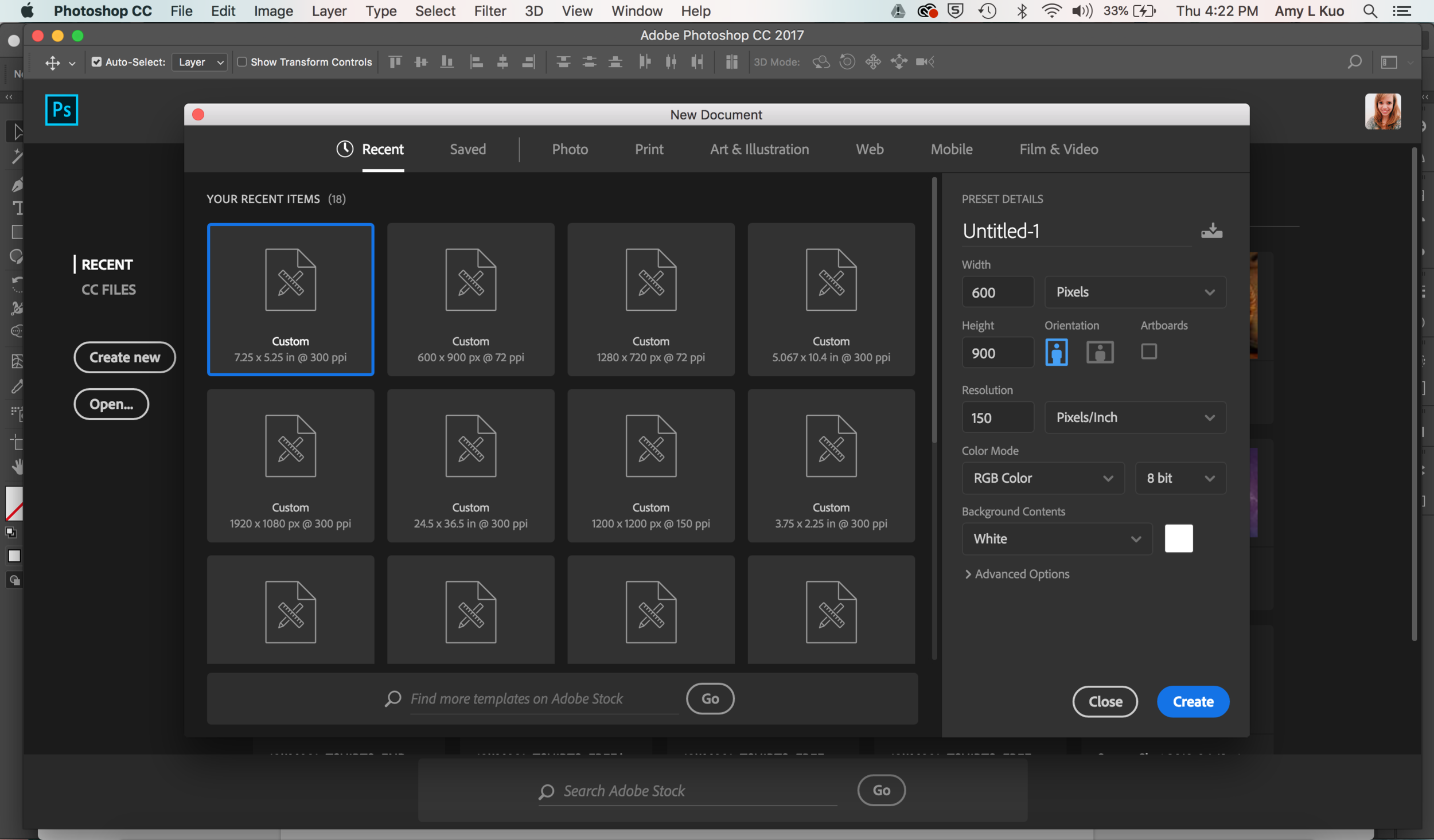 Create Share-Worthy Blog Post Graphics FASTER in Photoshop - Create Your New File