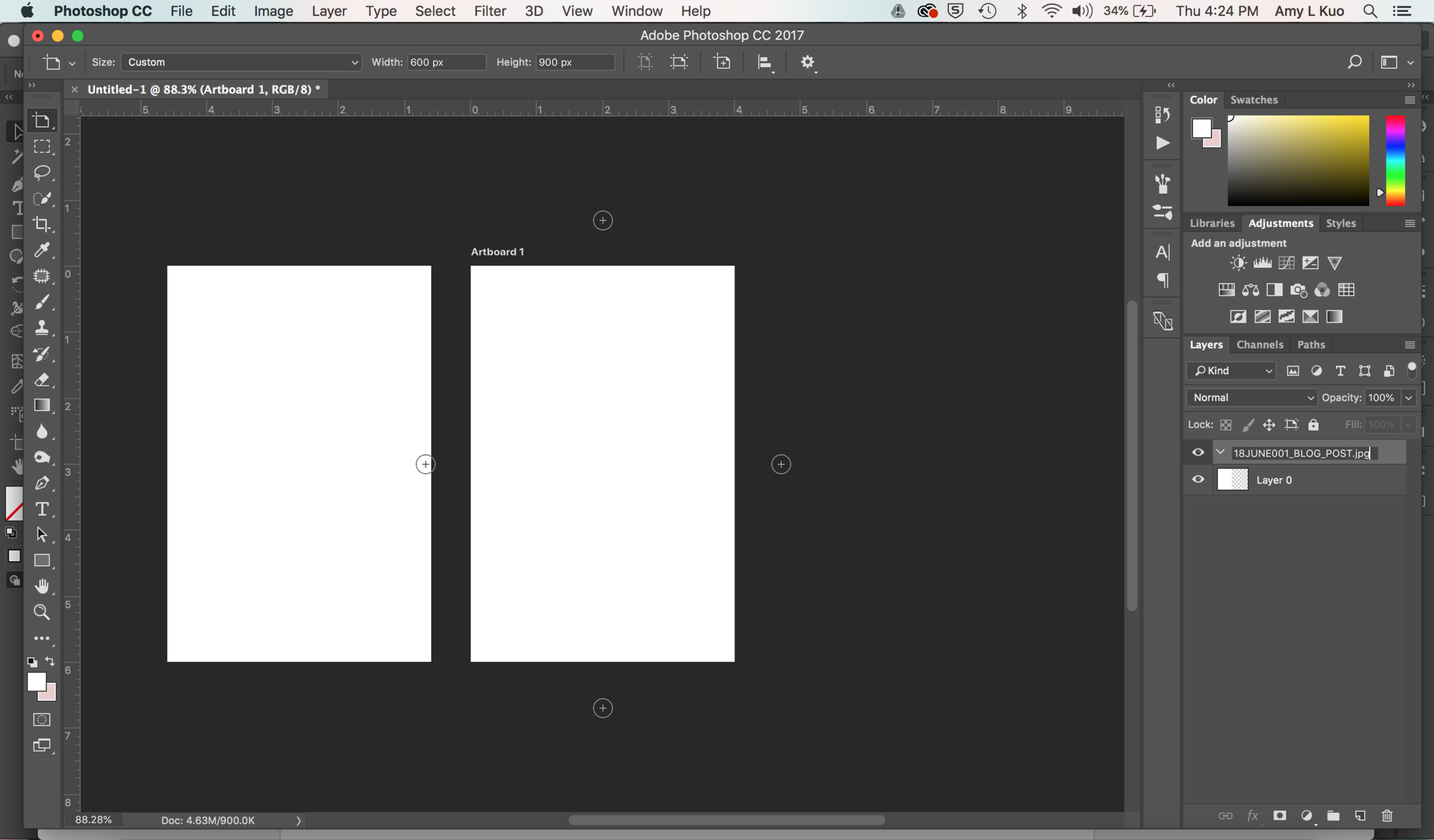 Create Share-Worthy Blog Post Graphics FASTER in Photoshop - Name Your Artboard