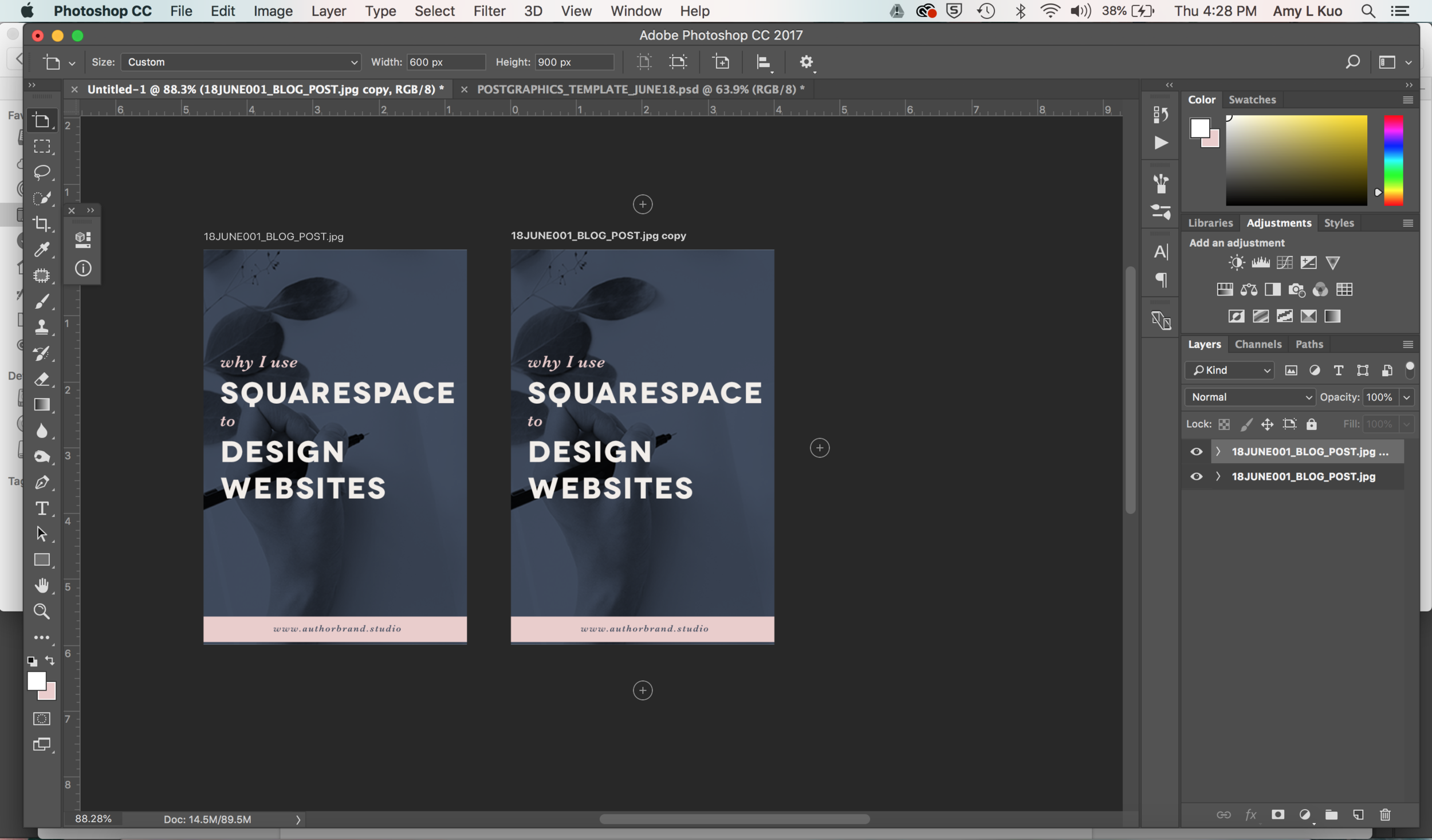Create Share-Worthy Blog Post Graphics FASTER in Photoshop - Duplicate Artboards