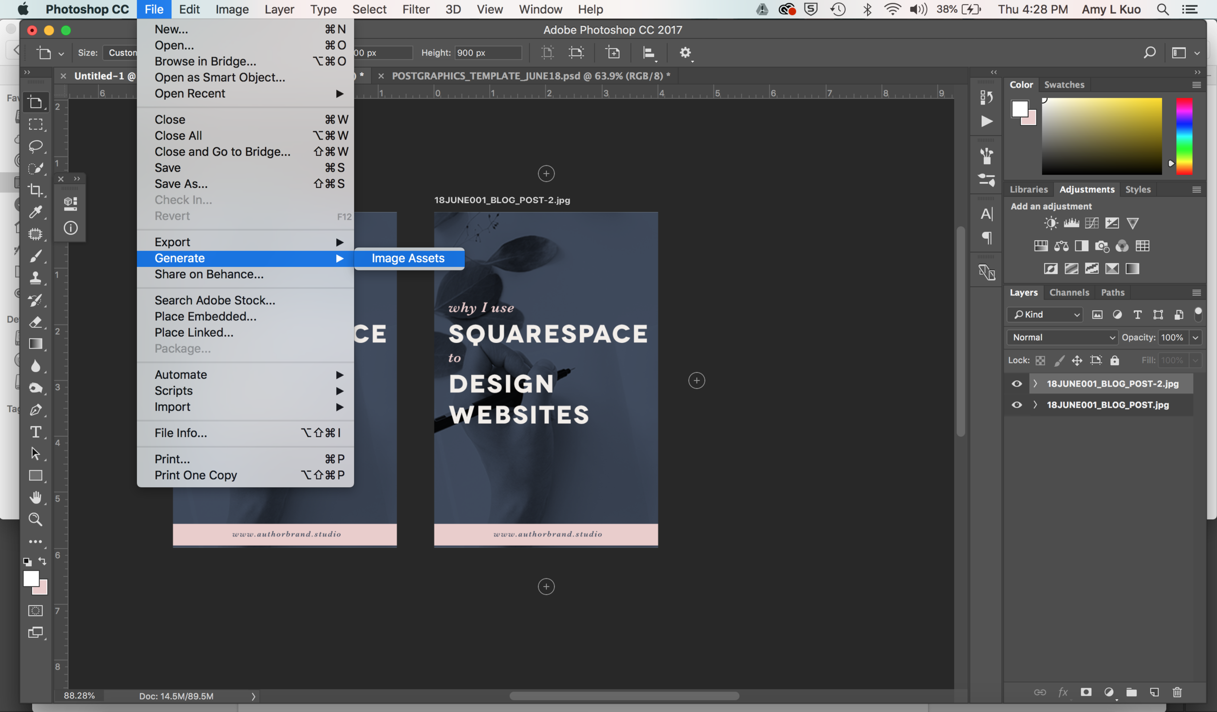 Create Share-Worthy Blog Post Graphics FASTER in Photoshop - Generate Image Assets