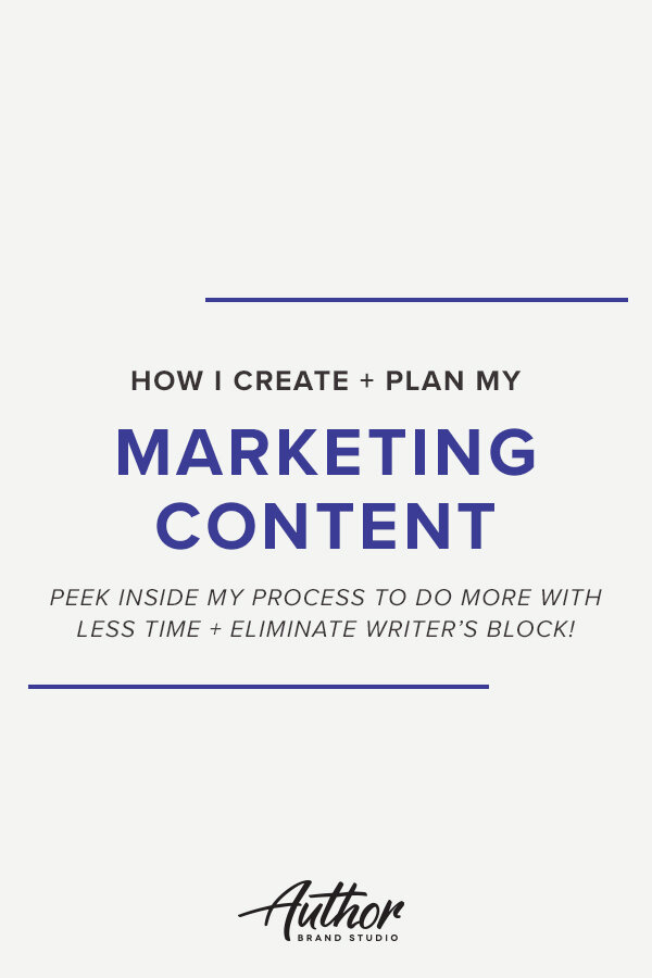 How I Create + plan my marketing Content (Peek inside my process to do more with less time + eliminate writer's block!)