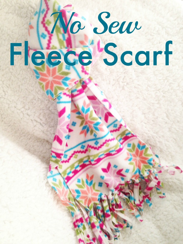 All you need for this cozy gift is about a yard and a half of fleece and a good pair of scissors. Older kids could get even more creative and tie beads into the fringe for a customized look! Thanks to  theneighborhoodmoms.com for the idea!