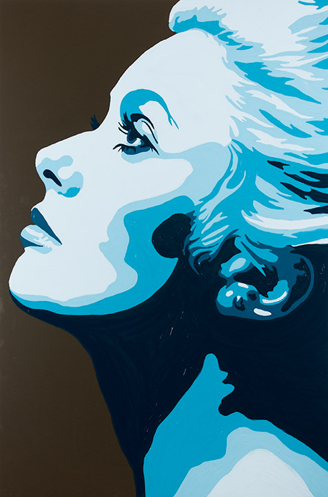 Painting of Catherine Deneuve