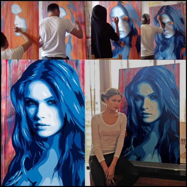 Jeremy Penn Artist Painting Lada Kravchenko