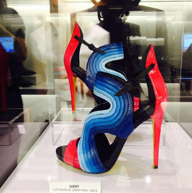 Jeremy Penn custom painted Schutz Shoes
