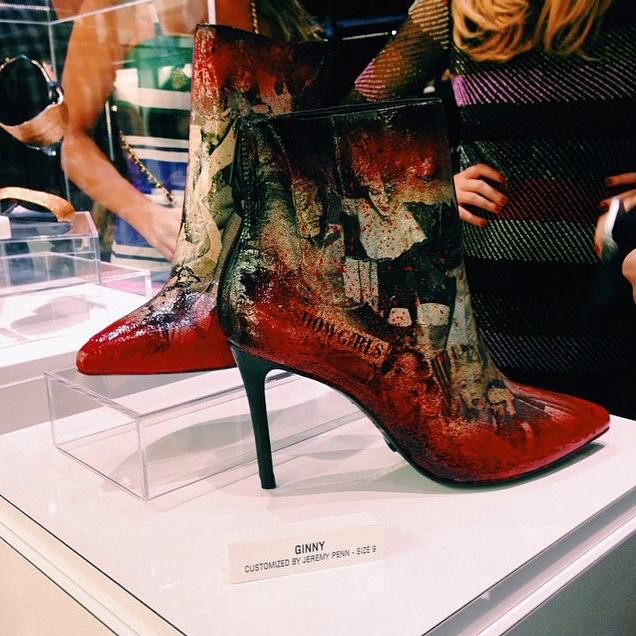 Jeremy Penn custom Schutz Shoes