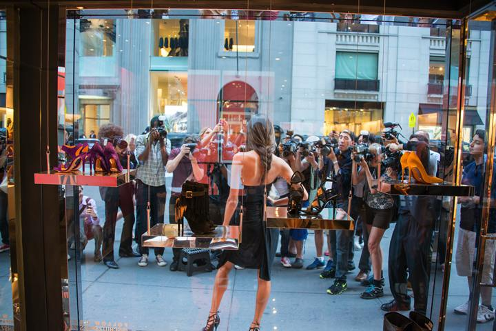 Alessandra Ambrosio arrives at Schutz Shoes