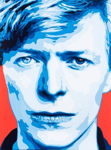 David Bowie Painting by Artist Jeremy Penn