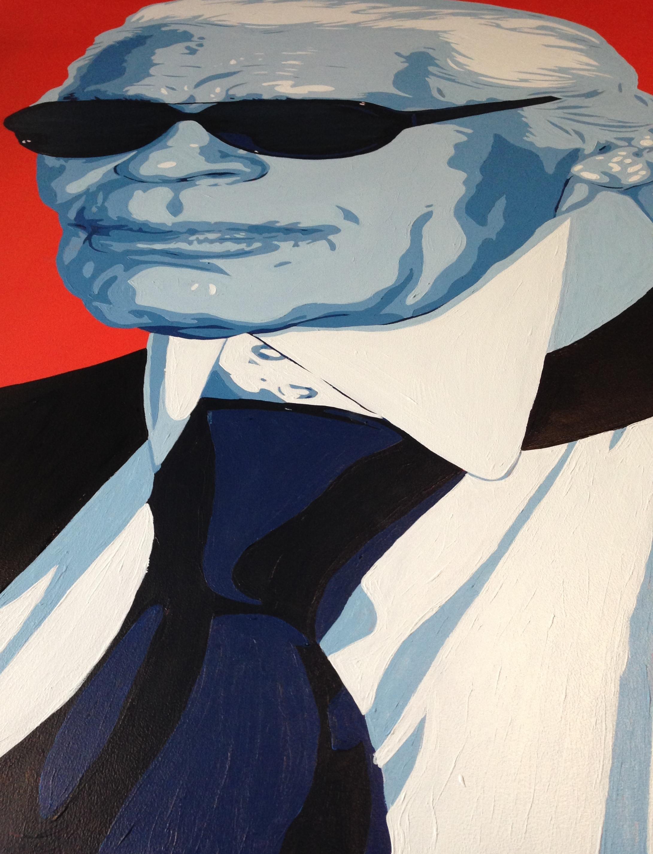 Karl Lagerfeld Painting