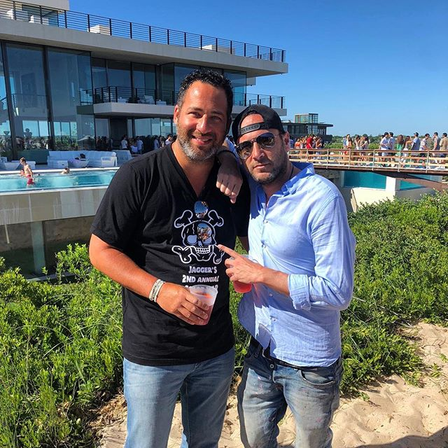 In the 20 plus years I've known this giant, I can't think of one dull moment. We were rolling dice in Vegas together before 99% of the guests at this party were born. Always an adventure with @jaredepsnyc #hamptons