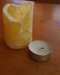 Shown here: 1-tea light size at 3 inches tall