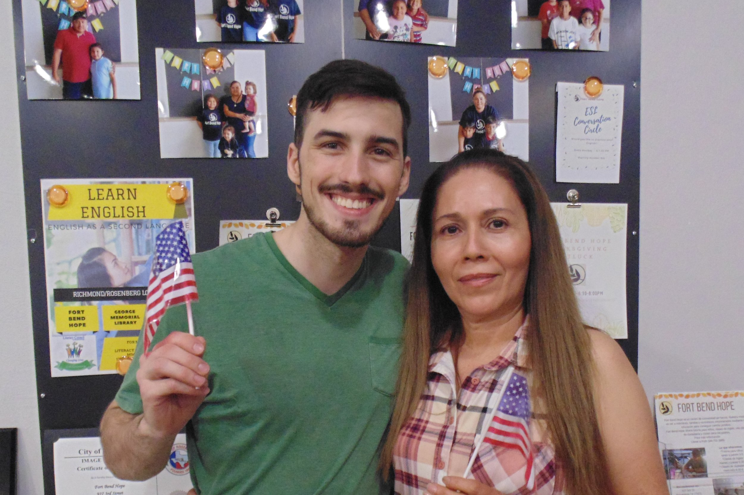 Silvia obtained her US Citizenship with the Literacy Council and Fort Bend Hope