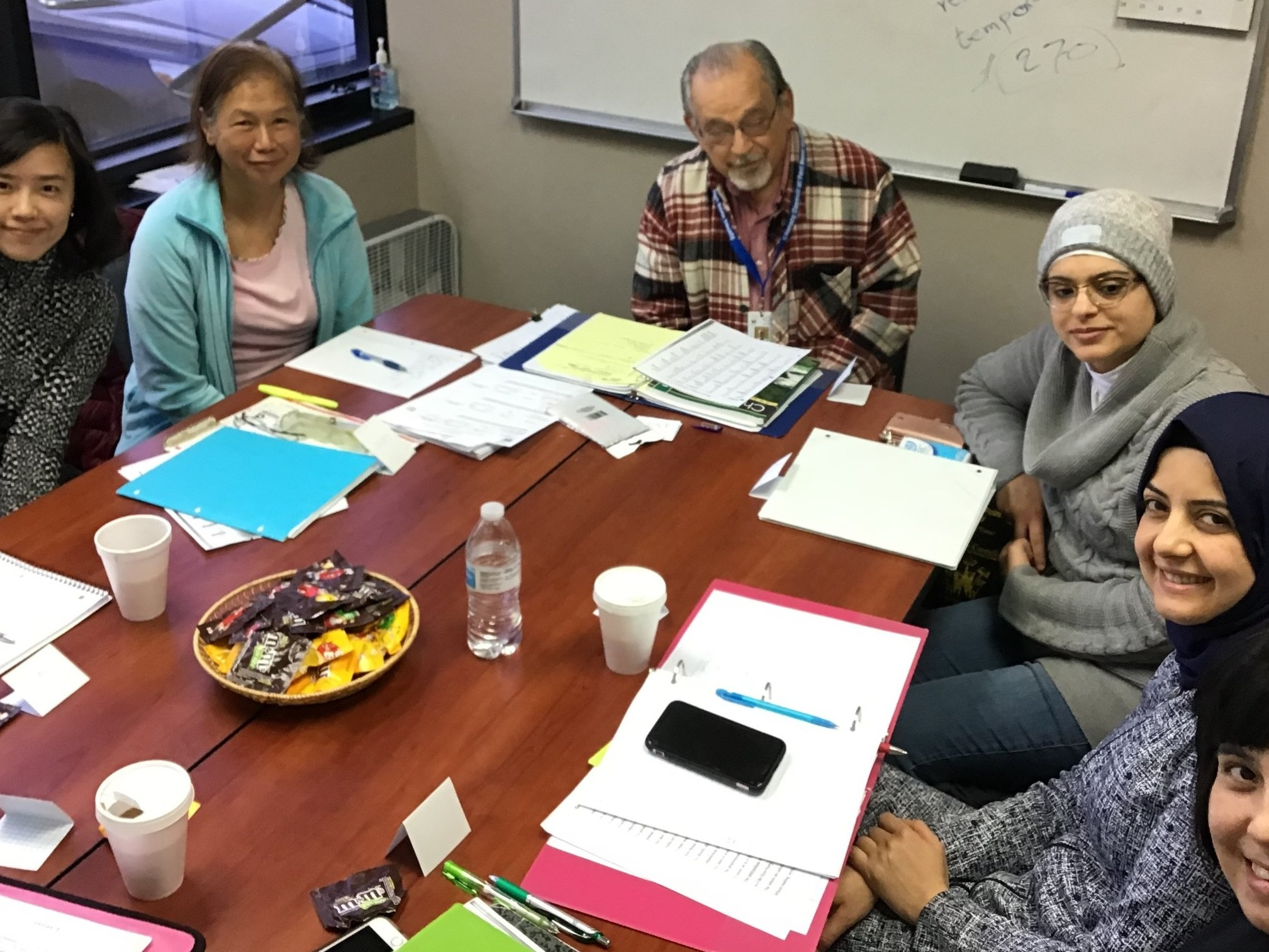 ESL Volunteer Tutor, Eugene and his ESL Writing Class