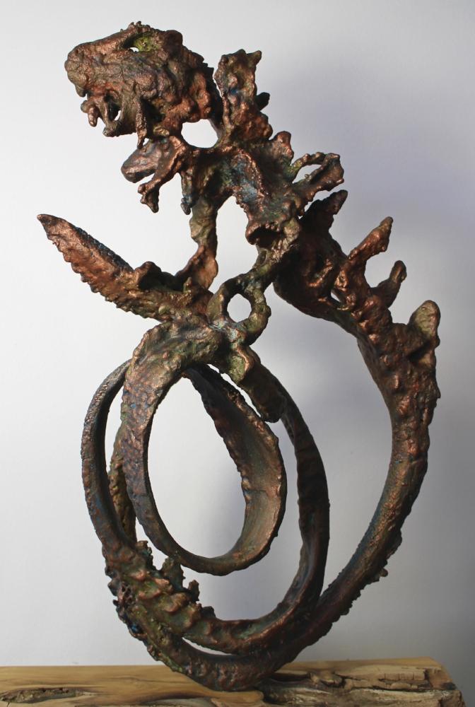 L'iguane...abstract, original resin sculpture by Dave Stevenson