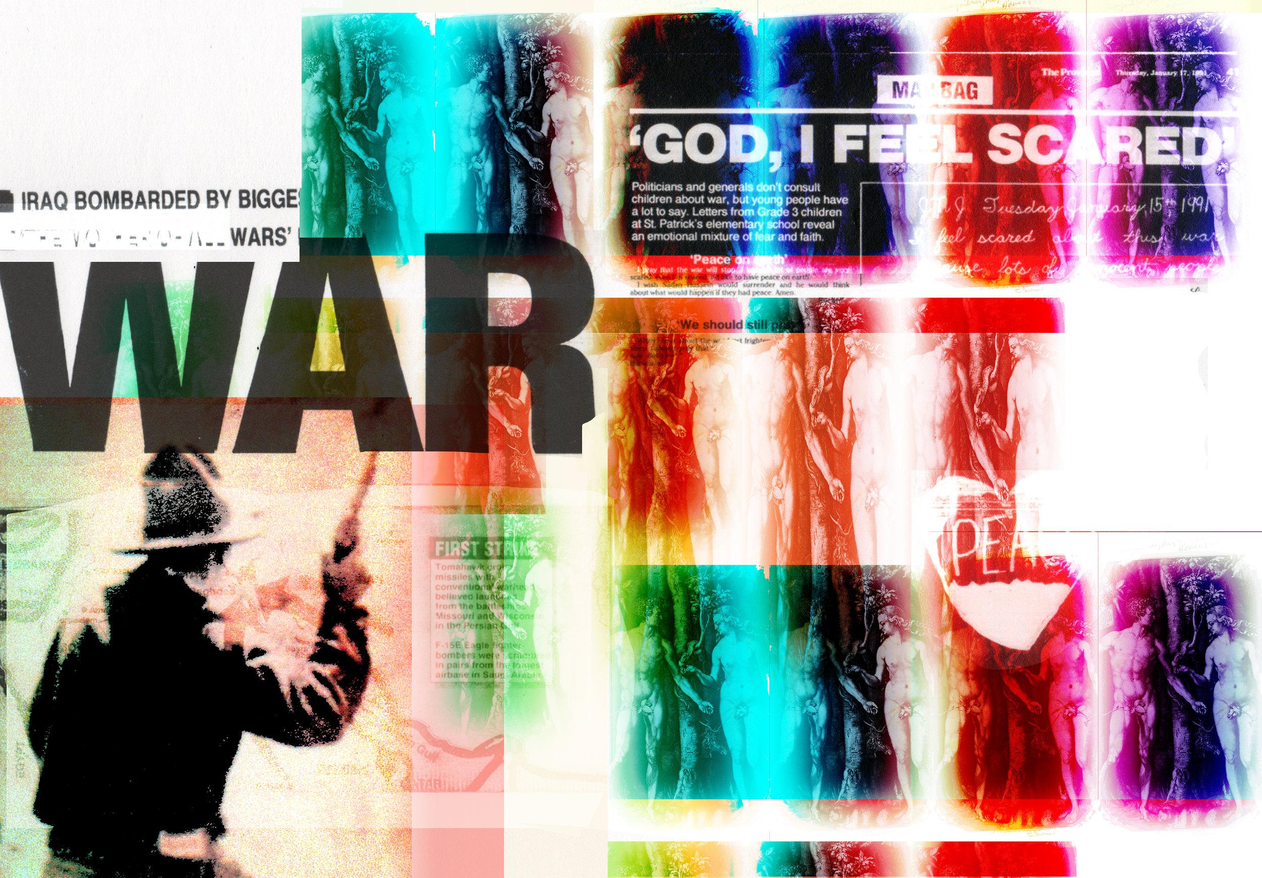 "War, Generation A-Z  48"" x 33"""