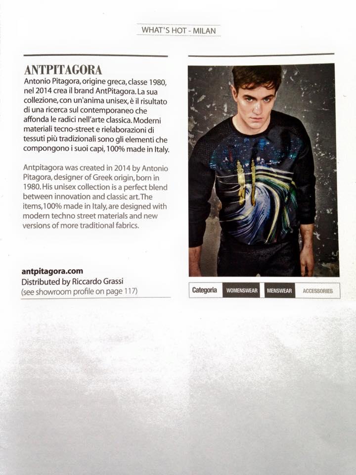 AntPitagora in Fashion Magazine