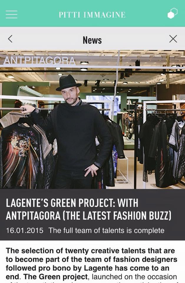 Pitti Immagine - L'agente Green Project