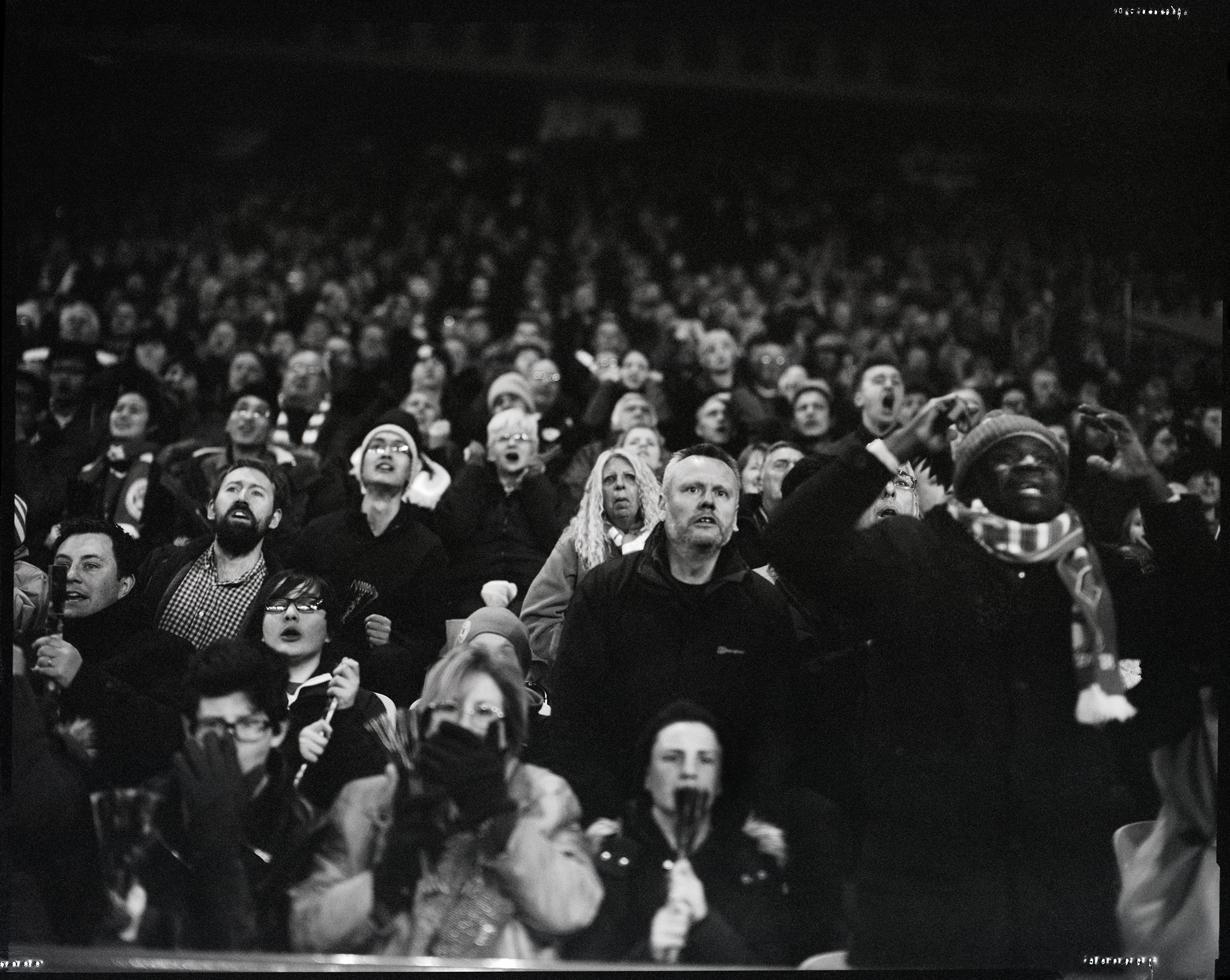 Leicester City fans during final minutes of the math, King Power Stadium, Leicester City 2 West Bromwich Albion 2, March 1, 2016