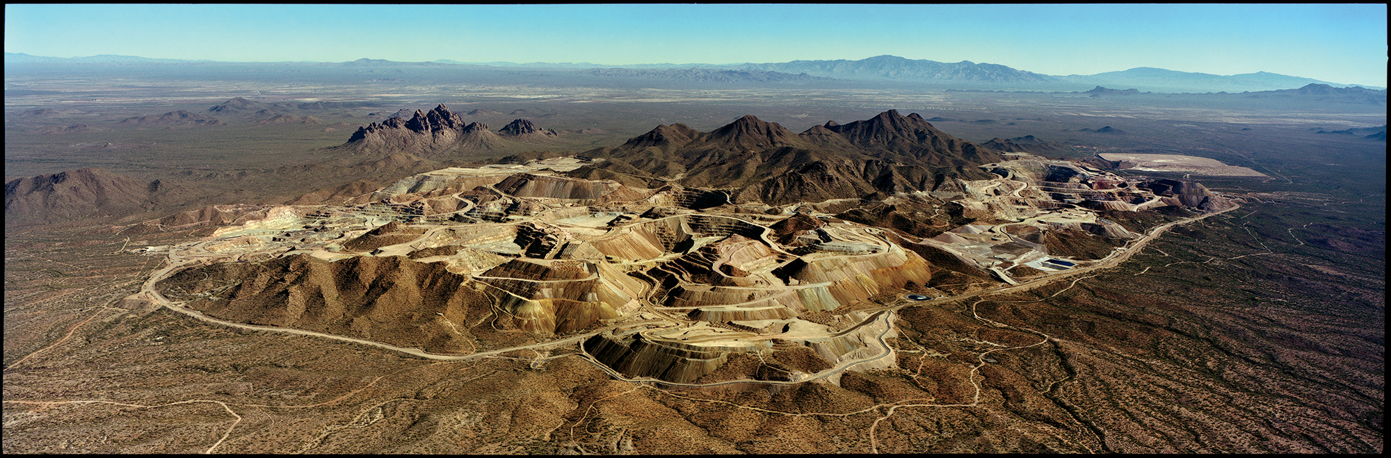 An aerial view of the Silver Bell mine, operated by Asarco, in southern Arizona