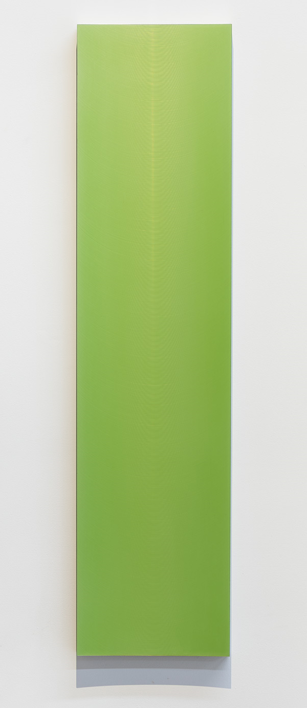 Roy Thurston, Untitled, 2015, Acrylic polyurethane on milled aluminum,  35 ¾ x 8 ¾ x 1 ¼ inches