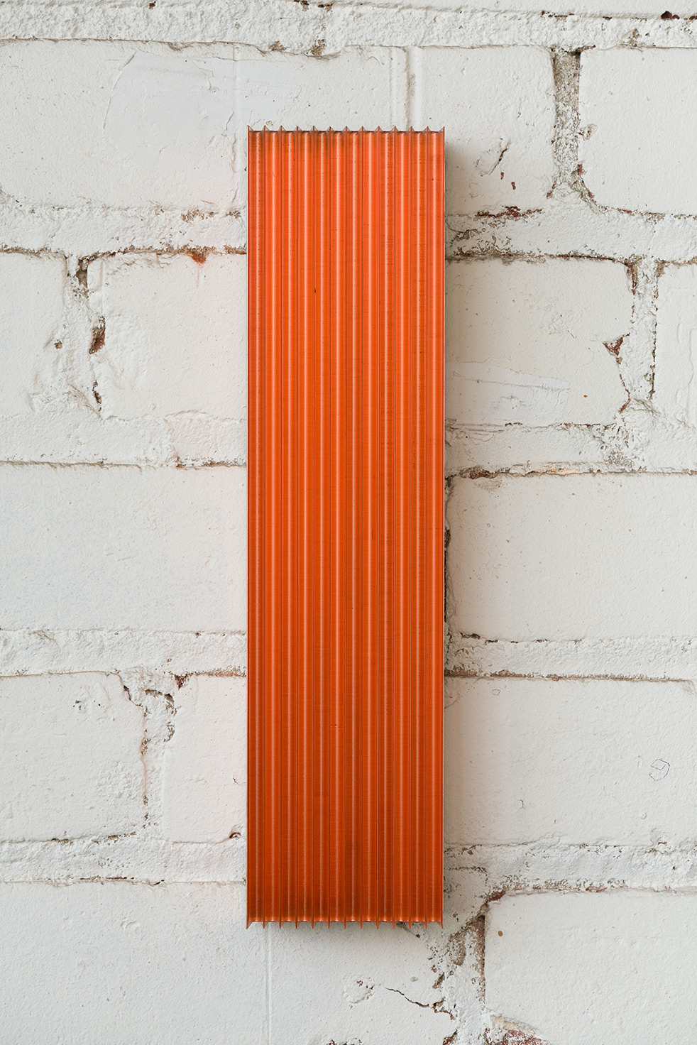 Roy Thurston, 2012-1, 2015, Milled copper with clear acrylic polyurethane, 12 x 3 x 1.375 inches