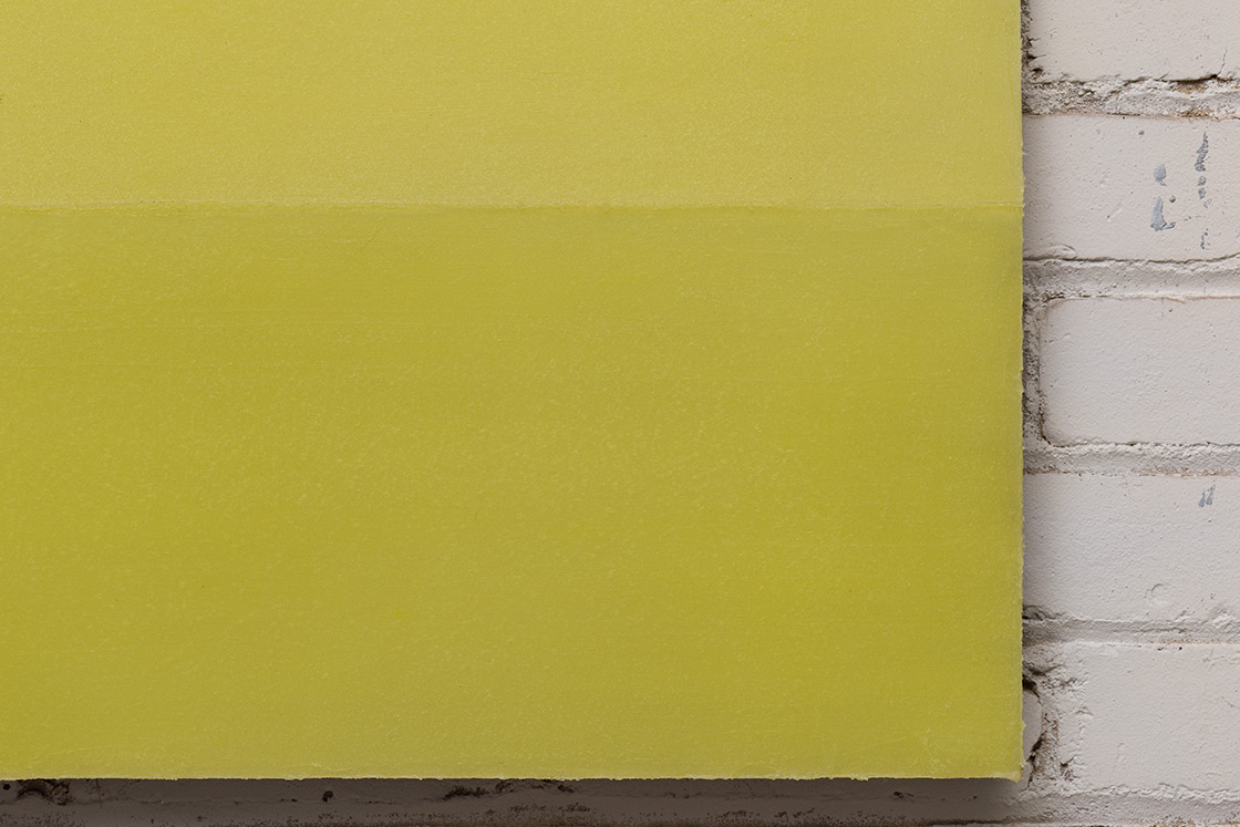 Roy Thurston, 2015-1, 2015, Silicone on aluminum panel, 18 x 84 x 1.625 inches