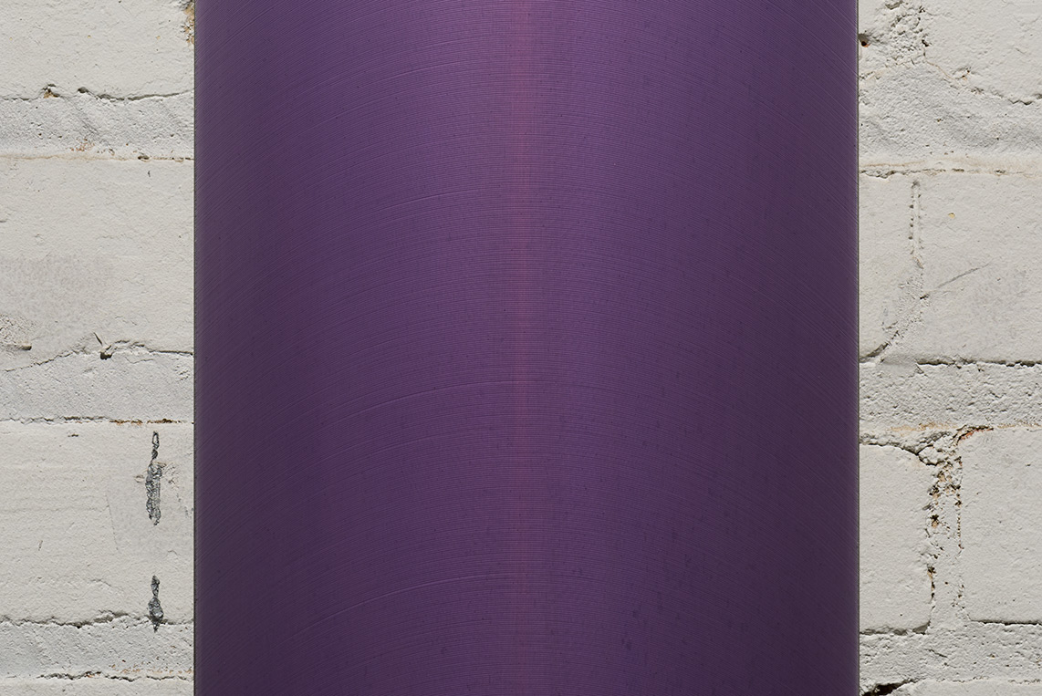 Roy Thurston, 2015-5, 2015, Acrylic polyurethane on milled aluminum, 35.75 x 8.75 x 1.25 inches