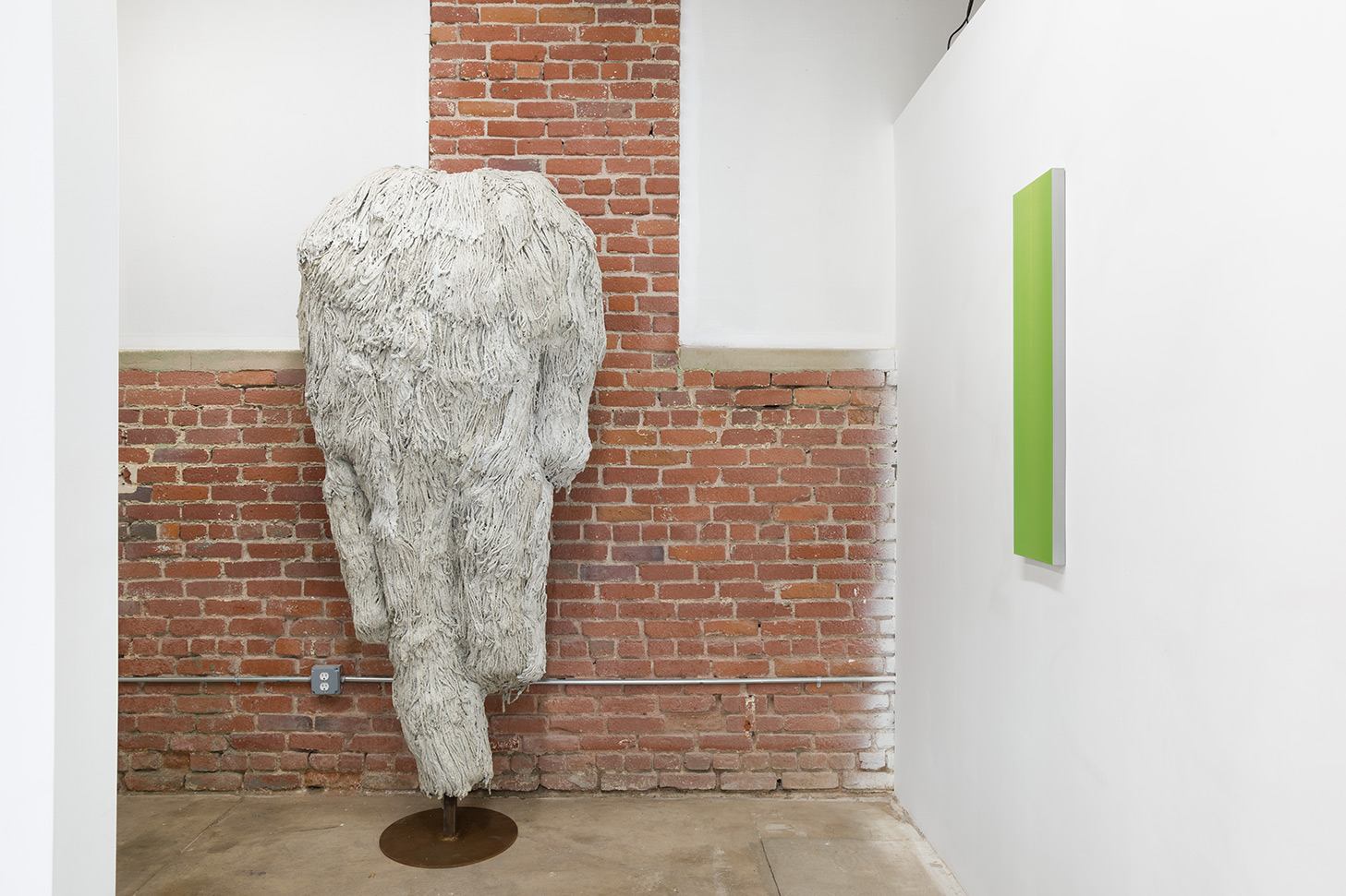 Evans Wittenberg, Overcombiner, 2015, rapid-set cement, mops and stell, 6 ½ x 4 x 2 feet