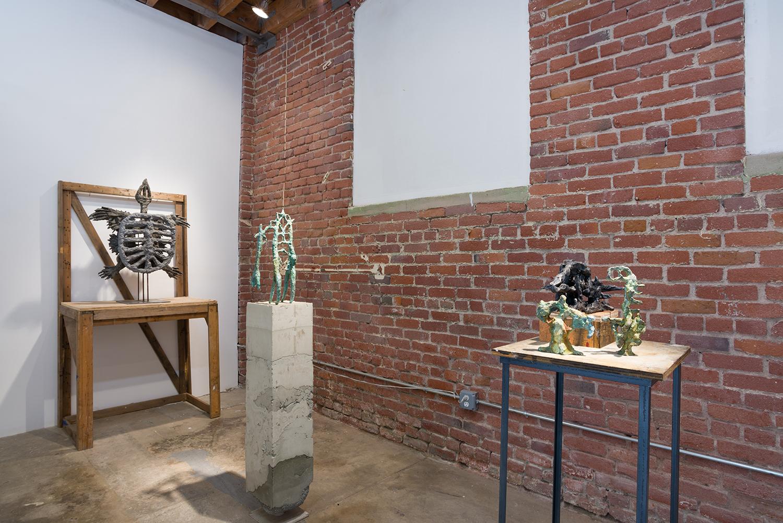 Evans Wittenberg, ARCHEOPSYCHIC , 2016, installation view.