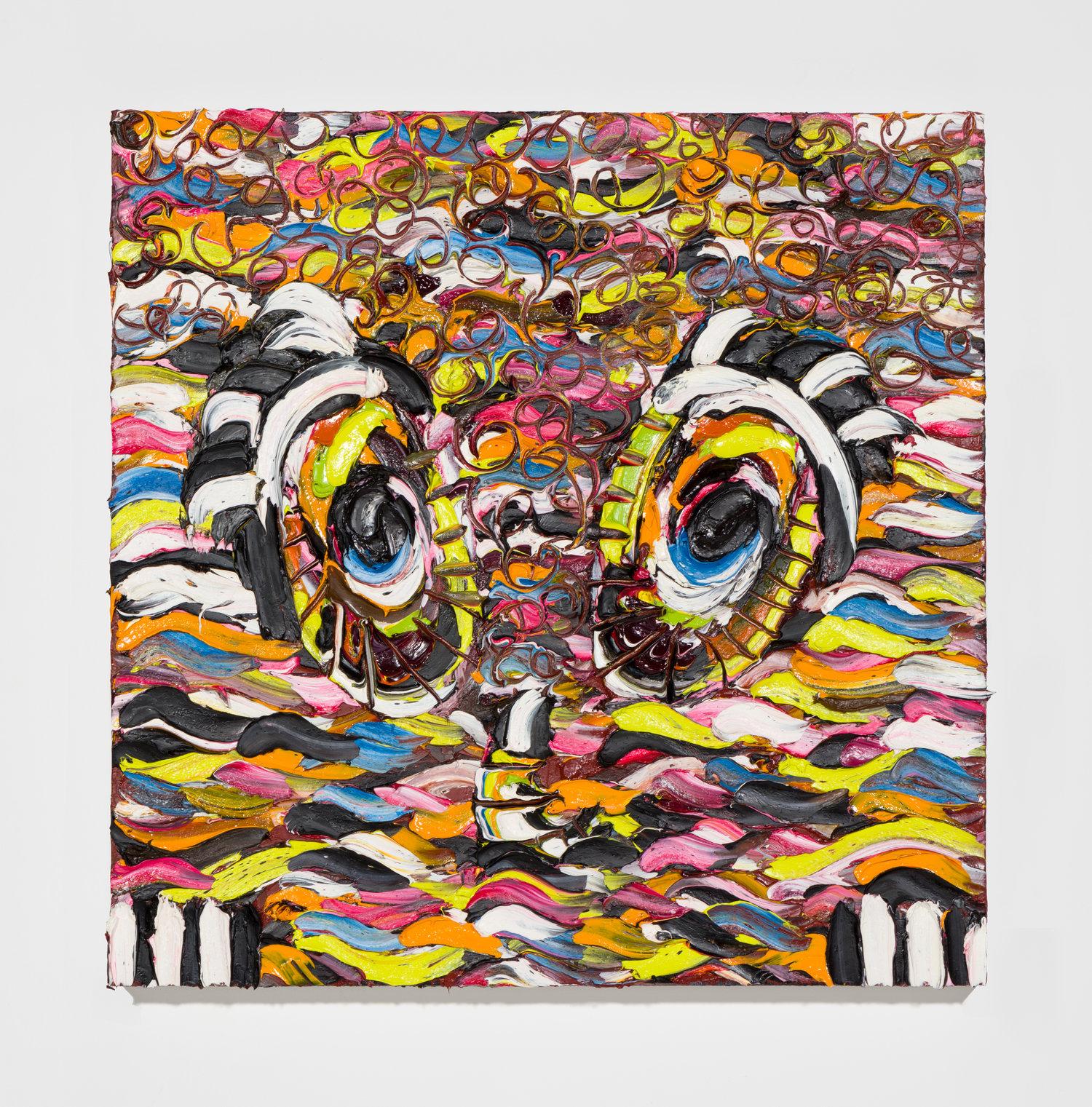 Sally Bruno,  Club Kid ,    2016,oil on canvas, 24 x 24 inches