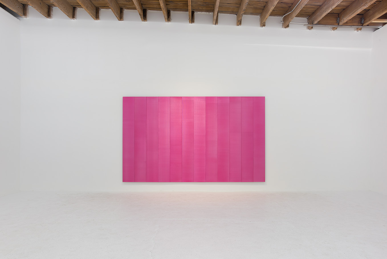 Roy Thurston,  2016 -1 , 2016, pink silicone on aluminum panel, 72 x 120 x 1 1⁄2 inche