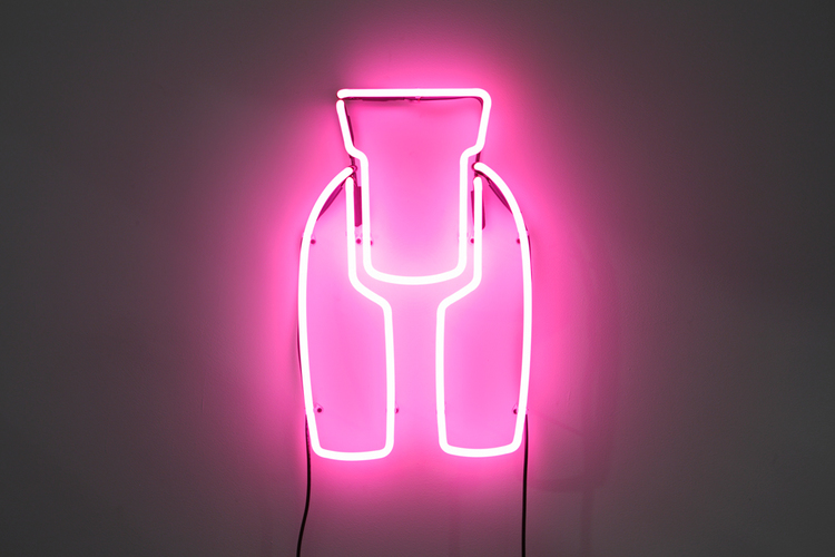 Allie Pohl,  Ideal Woman: 2 ft. Neon,  2011, neon, transformer, 24 x 15 inches
