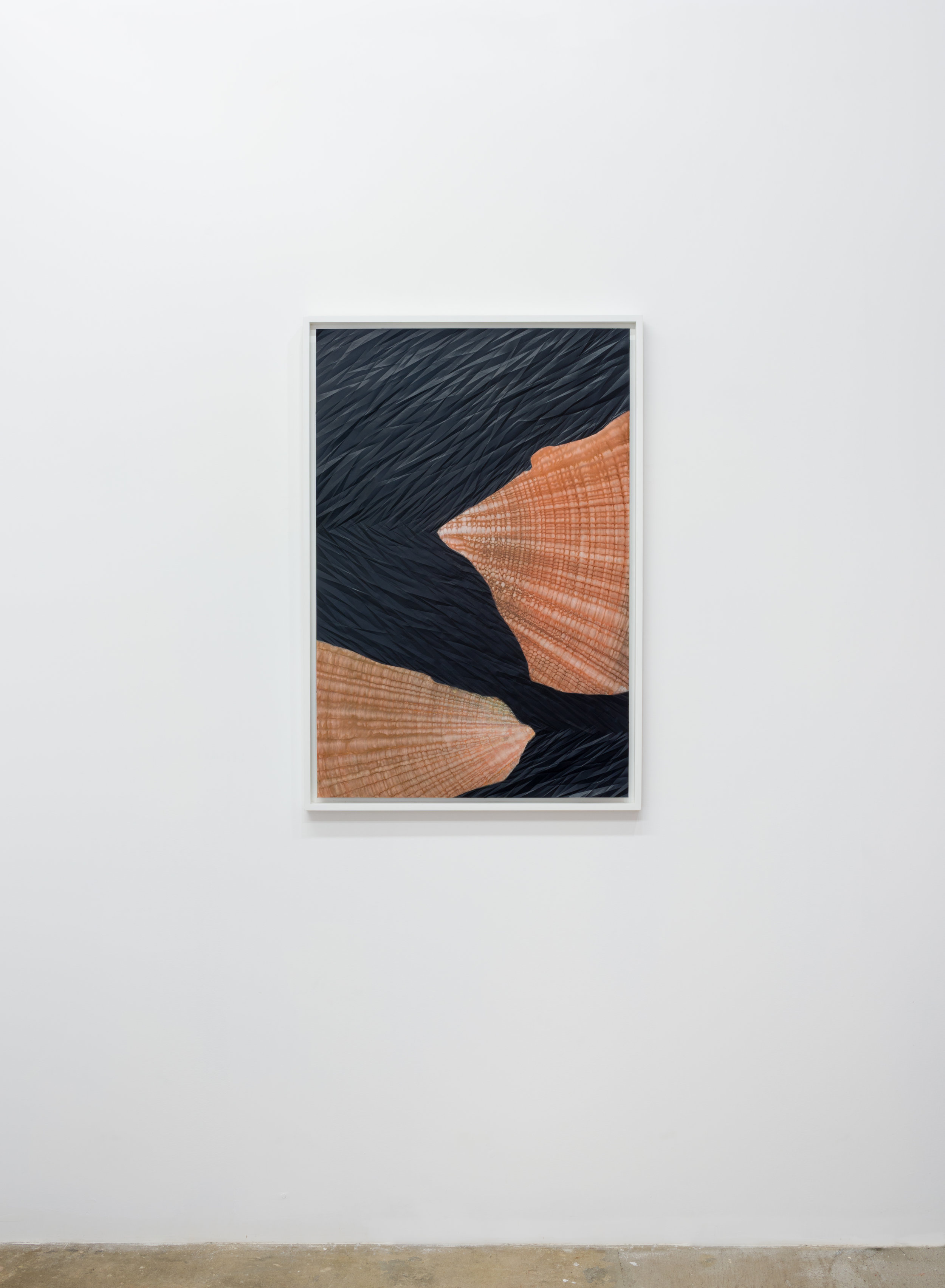 Sandeep Mukherjee,  Untitled (Pincer 2) , 2012. Acrylic, acrylic ink and embossed drawing on duralene, 36 x 24 inches. Photo: Ruben Diaz.