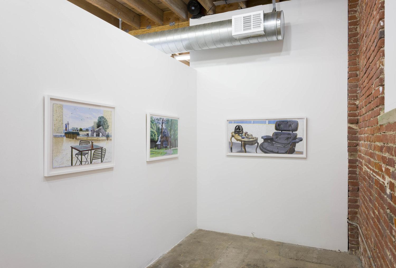 Cole Case, 'Riding Shotgun in the Sky'. Installation view. Chimento Contemporary. Photo: Ruben Diaz.