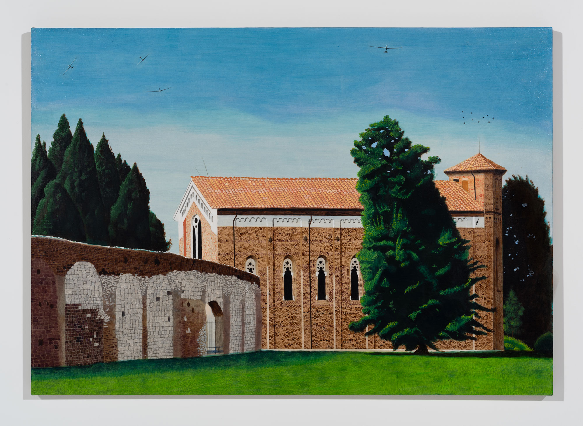 Scrovegni Chapel With Gliders Looking Due North, 2018