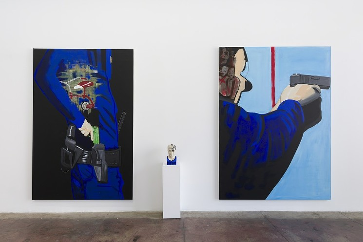 Forrest Kirk,  Body Count  (2018), installation view. Courtesy E.C. Lina Gallery