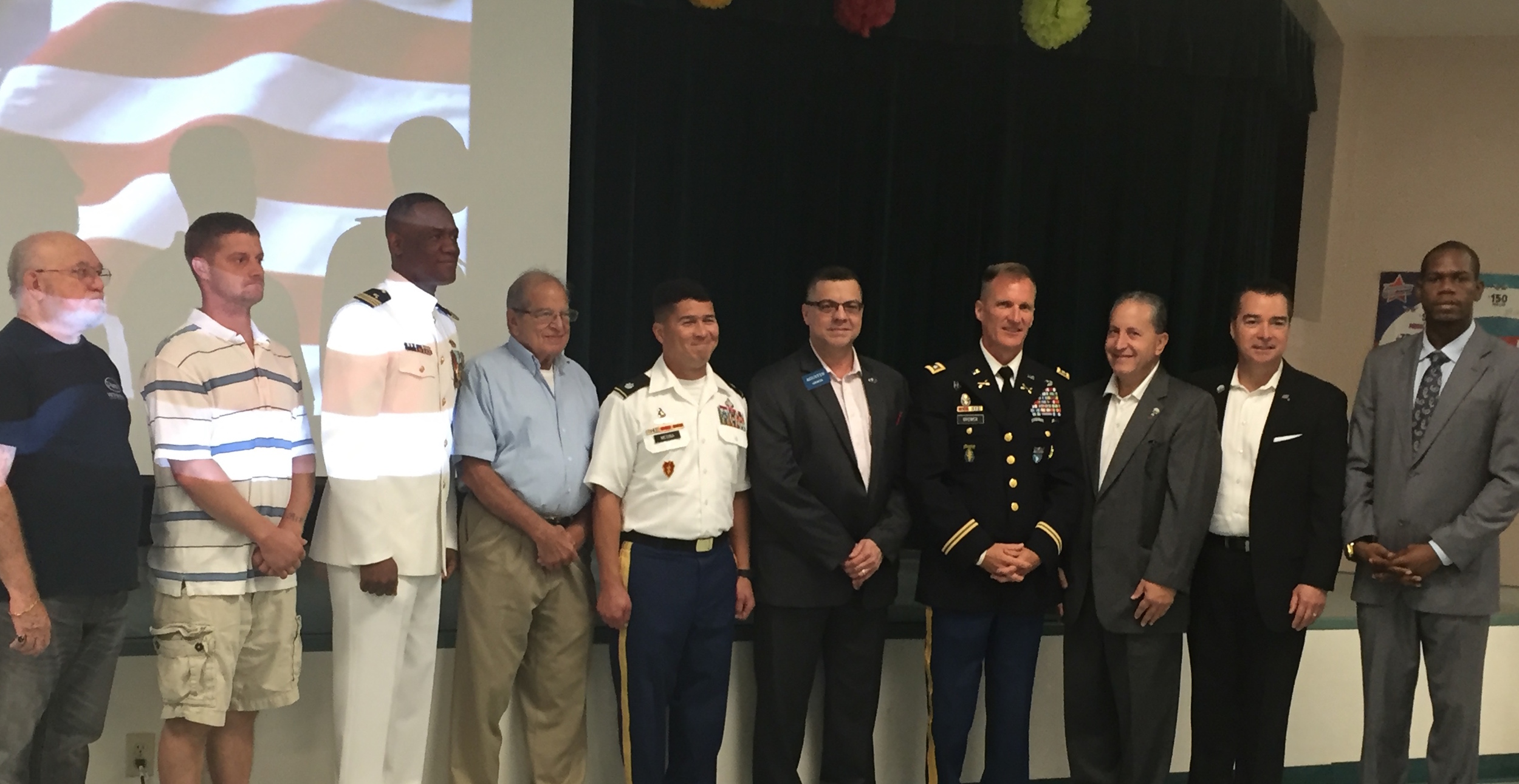 Vietnam, Afghanistan and Iraq veterans and the Mayor of Weston (the Honorable Daniel Stermer), Weston City Commissioner Jim Norton and Mr. Richard Nelson of Senator Marco Rubio's office