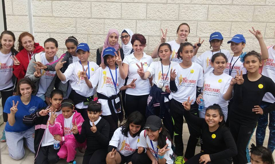 Campers with Batoul Arnaout, founder of BOOST and a favorite speaker and leader for the camp/race