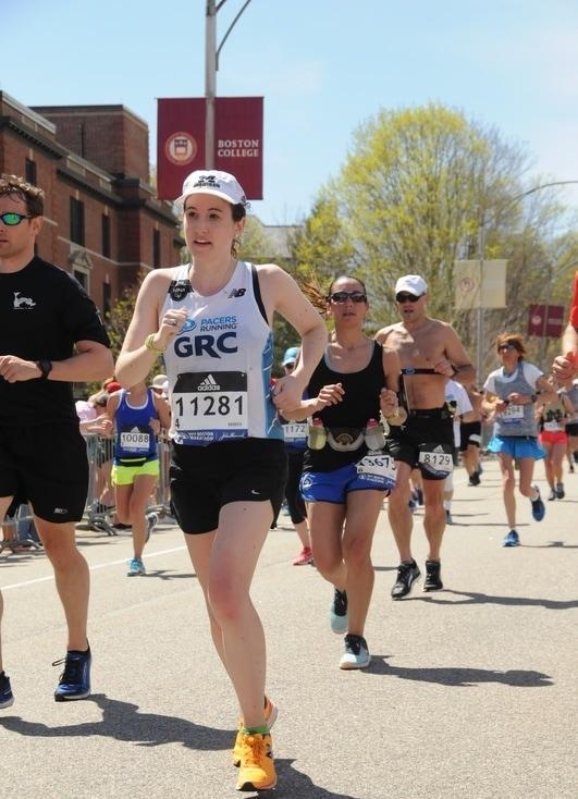 Mary Grace at the 2017 Boston Marathon